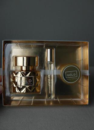 Подарочный фирменный набор next gold eau de parfum 3 единицы духов