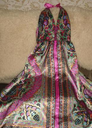 Платье сарафан атласный.