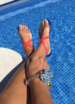 Супер удобные и вкусно пахнущие босоножки/сандали/мыльницы melissa, бразилия