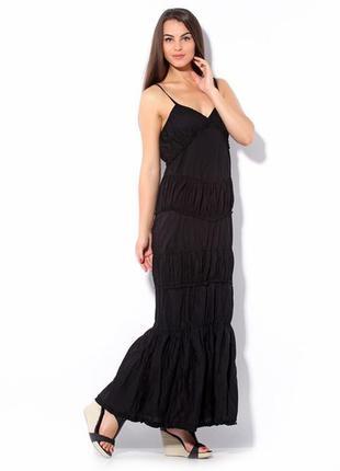 Летнее длинное платье сарафан в пол sisley