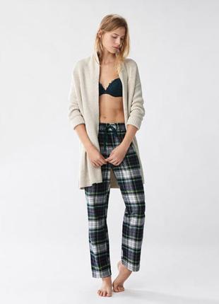 Oysho доманшние штаны в клетку, домашняя одежда, брюки домашние, одежда для беременных