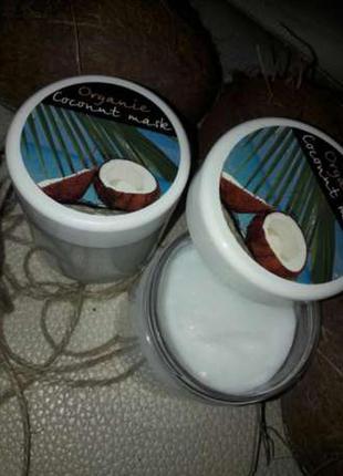 Кокосовая маска  бальзам для волос натуральная органическая