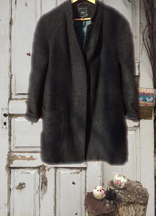 Стильное шерстяное пальто букле,кокон, бойфренд next