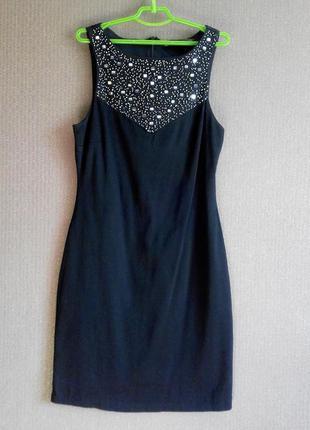 Потрясающее черное платье zara с вышивкой вечернее/коктейльное