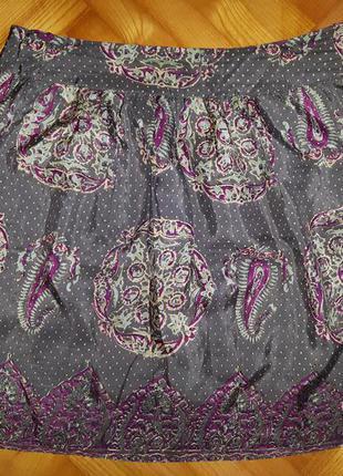 Дизайнерская шелковая юбка от isabel marant! p.-3