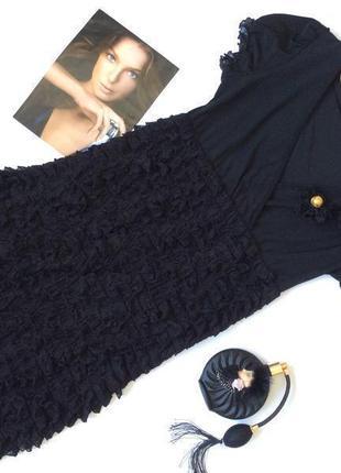 Нарядное игривое платье черное piena размер s