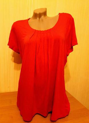 Ярко-красная футболочка 50-52р