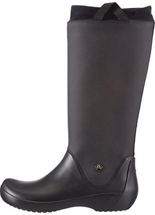 Сапоги crocs rainfloe, черные, w7, w9