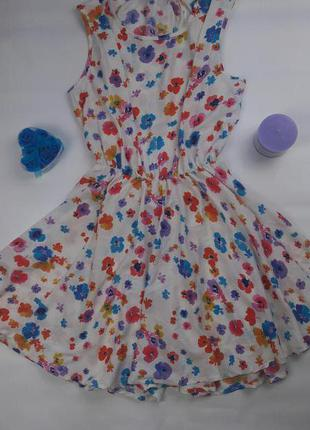 Коктейльное платье летний цветочный сарафан 217105