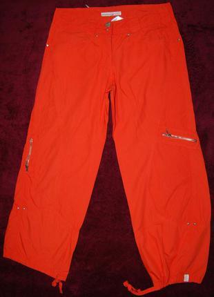 Стильные, яркие натуральные брюки bandolera, пот 38см.