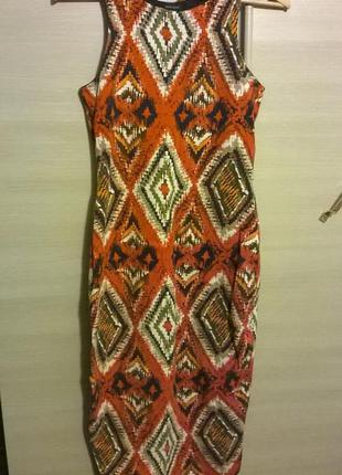 Платье футляр принт миди ацтеки см другие вещи - много интересного