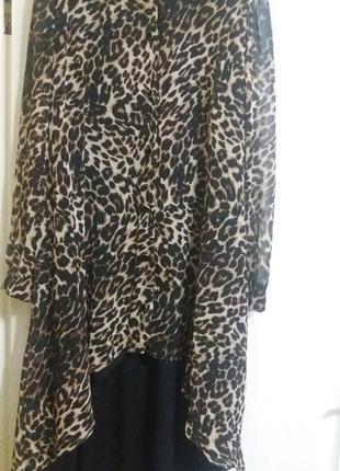 Супер платье повседневно-нарядное.леопард