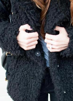 Пальто бойфренд чёрного цвета