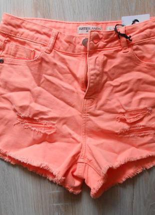 Рваные джинсовые шорты blanco - 36р. (8)