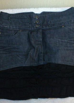 Джинсовая юбка dept, размер  42-44