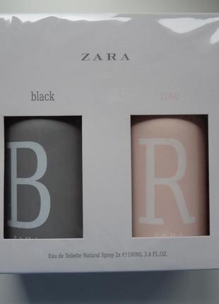 Набор духов zara black and rose парфуми духи парфумы