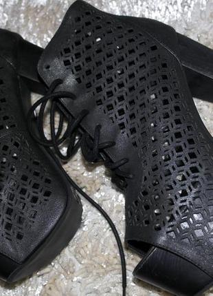 Ботинки ручной работы jeffrey campbell  деревянная платформа 38-39 оригинал