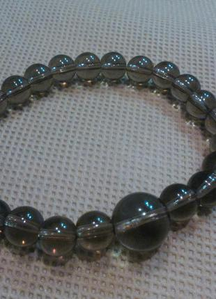 Очаровательный браслет природный дымчатый кварц раухтопаз