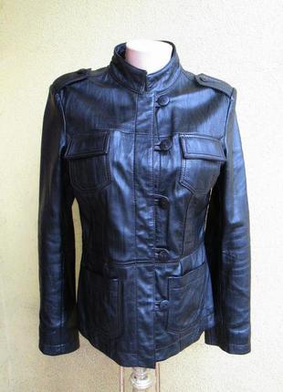 Натуральная кожаная куртка next