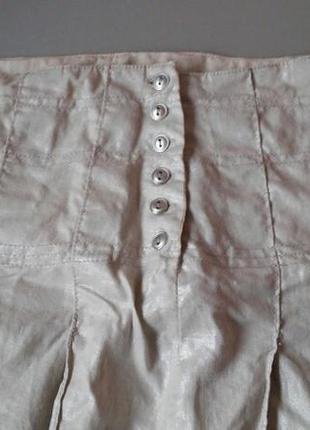 Летняя юбка с защипами полированный лён mosaic 36