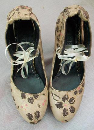 Туфли на шнуровке, belisimo.