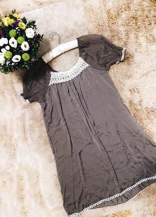 Короткое платье -туника свободного кроя favori