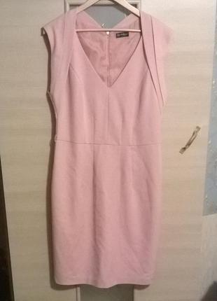 Пудровое красивое платье футляр распродажа см другие вещи - много интересного