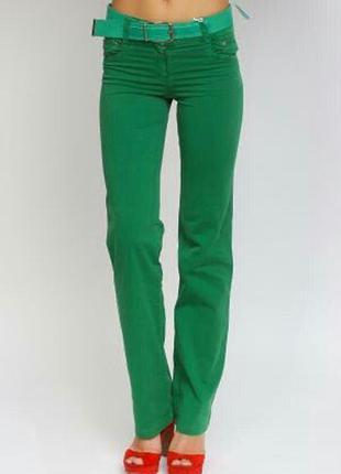 Красивые брюки зеленого цвета от la&b&la! брендовые штаны, брюки размеры xxs-s!
