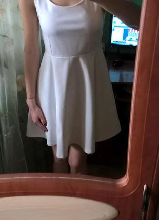 Стильный белый сарафан