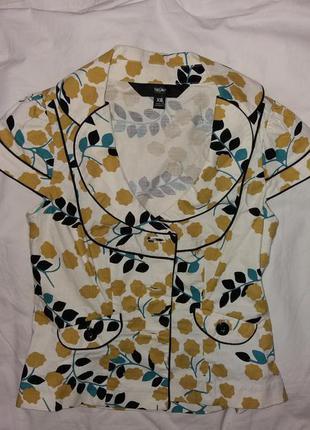 Невероятный качественный пиджак летний mossimo, есть возврат