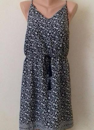Новое легкое платье-сарафан с принтом atmosphere