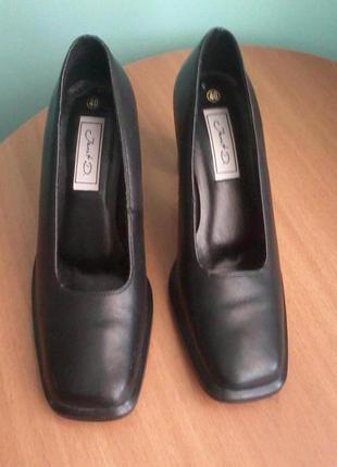 Кожаные туфли, весна-осень ( р. 40-41)