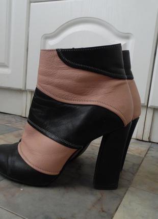 Пудровые ботинки, ботильоны натуральная кожа modus vivindi