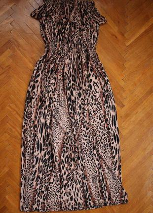 Бюстье сарафан макси платье в пол леопард sk-house s-m