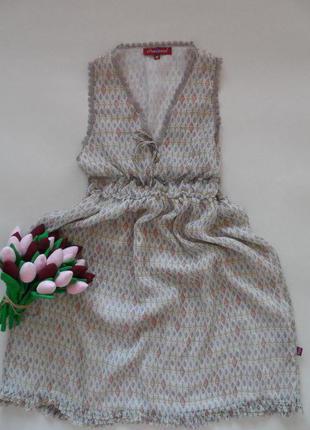 Легкое шифоновое платье на подкладе в размере м