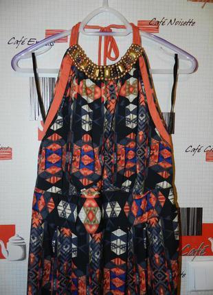 Яркое летящее макси платье в этно стиле, новое