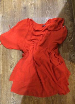 Шифоновое яркое летящее платье