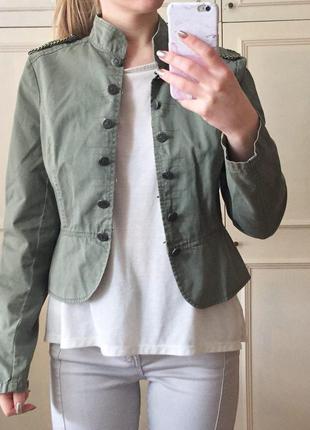 Жакет милитари джинсовая куртка хаки river island