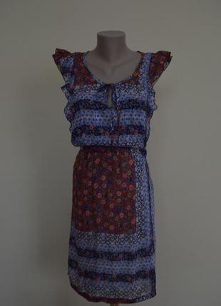 Шелковое платье в стиле бохо