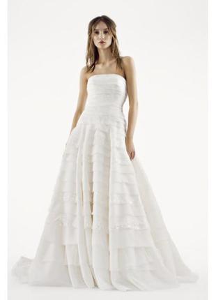 Потрясающее свадебное платье white by  vera wang