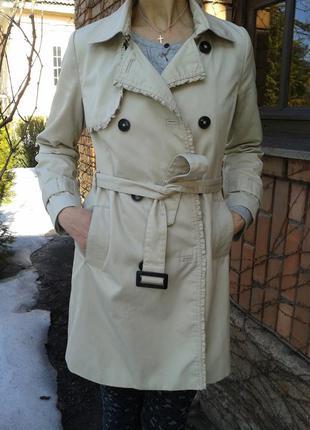 Тренч плащ пальто бежевое классическое универсальное