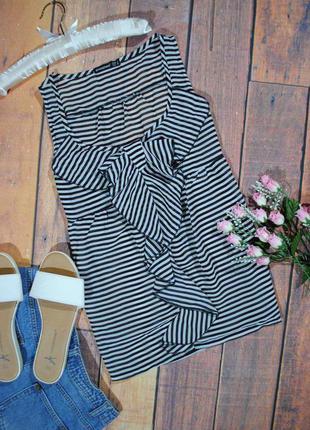 Скидка 30% на все вещи! шифоновая блуза в полоску atmosphere размер uk 8 (s) топ
