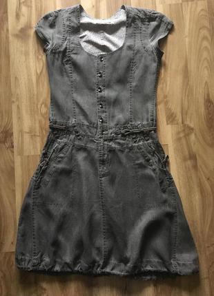 Платье из 100% льна