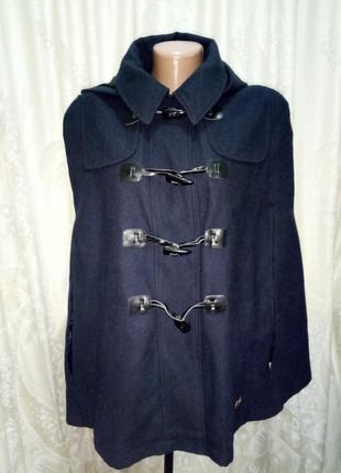 Пальто без рукавов пончо  с капюшоном ribbon в стиле atmosphere любой размер
