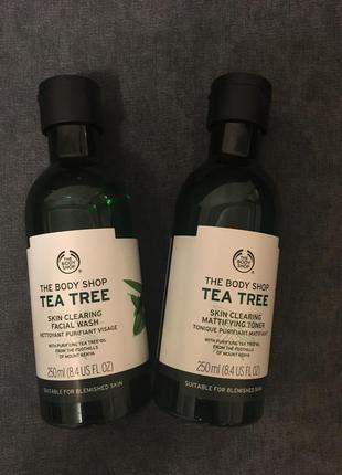 The body shop tea tree гель для умывания и тоник