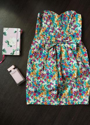 Короткое платье без бретелей asos
