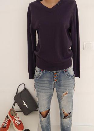 Лаконичный джемпер пуловер свитер шерстяной