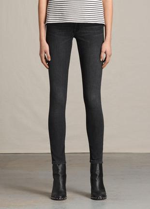 Джинсы супер скинни w28 allsaints mast mid grey jeans