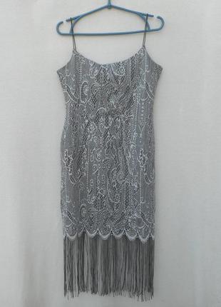 Нарядное кружевное коктейльное летнее платье  evening wear