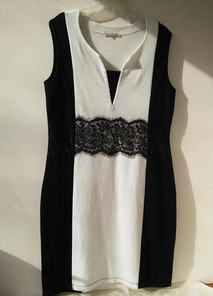 Красивое черно-белое платье!